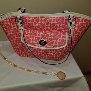 Coach Chelsea Leah Tote Hot Pink